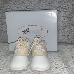 Angel Baby Boy Classic Leather Lace Ups